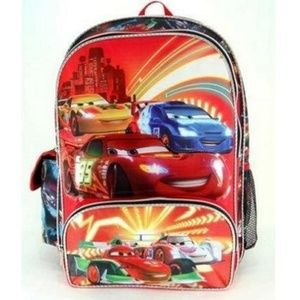Cars 16 Inch Large Backpack - Neon